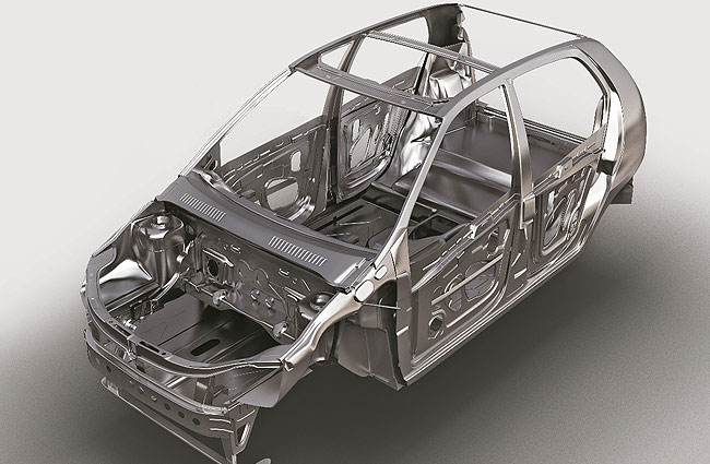 Tata Indica e-Xeta Reinforced Steel for enhanced safety