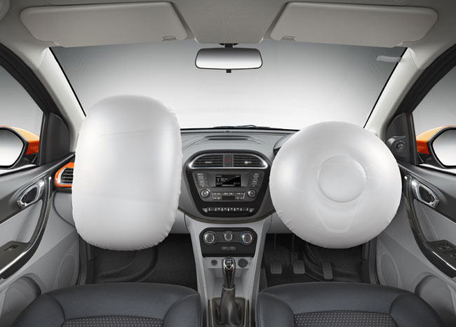 Tata Tiago - ABS and EBD with Corner Stability Control (CSC) and dual airbags