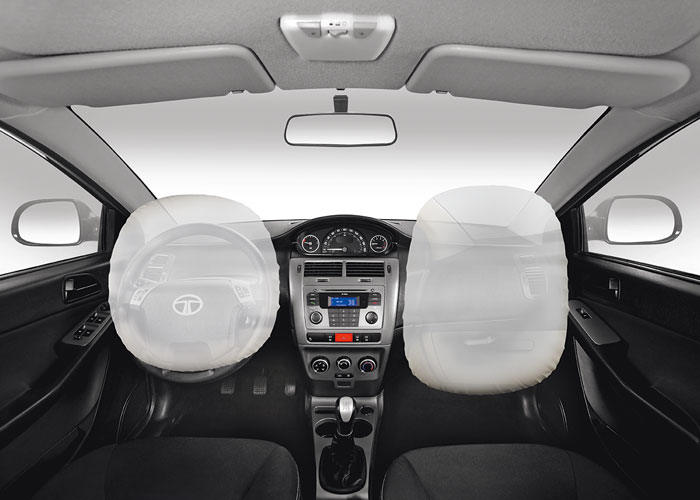 The inside of the car is one of the safest places to be on the road. Dual Airbags – driver and passenger work in tandem to prevent injuries, in case of an accident.